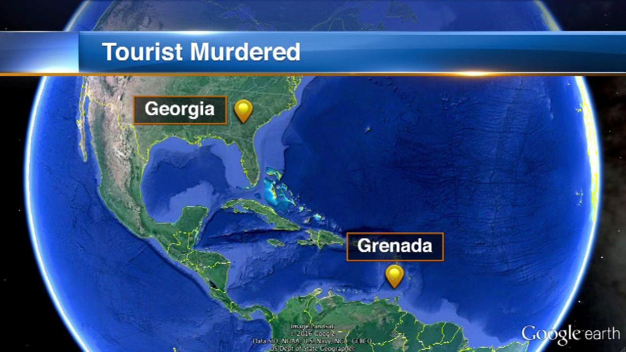 American tourist murdered in Grenada by man with sword, police say