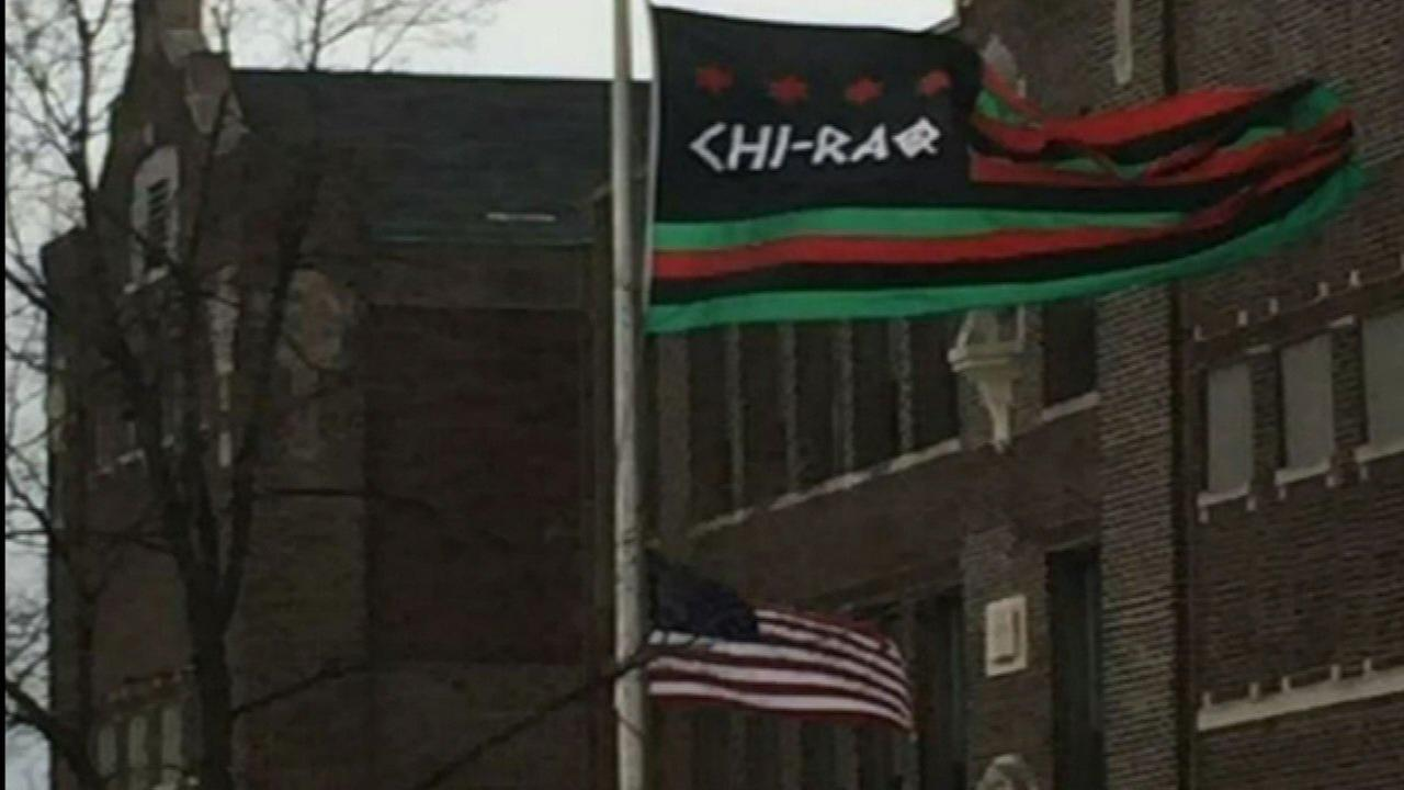 Father Pfleger apologizes after 'Chi-Raq' flag flies above US flag at St. Sabina