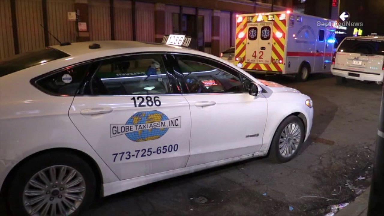 A taxi fatally hit a man in the 400-block of North State Street early Sunday, police said.
