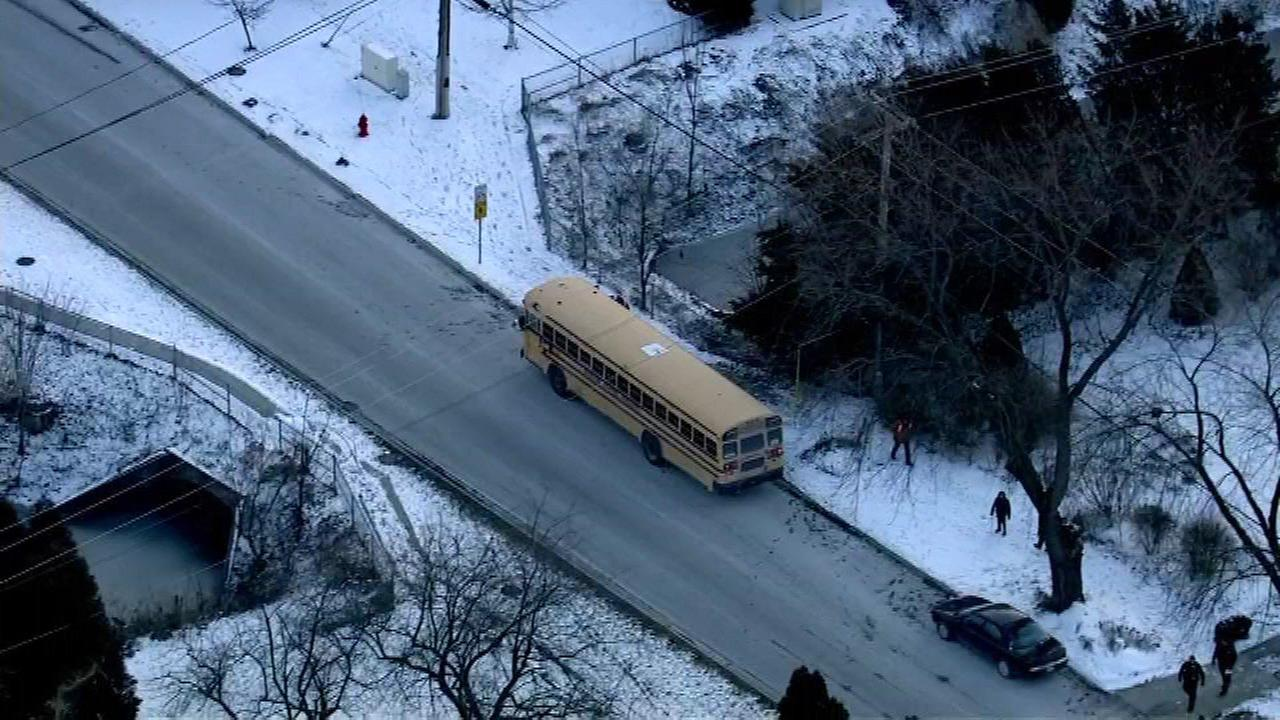 School bus collides with parked car in Mundelein, police say