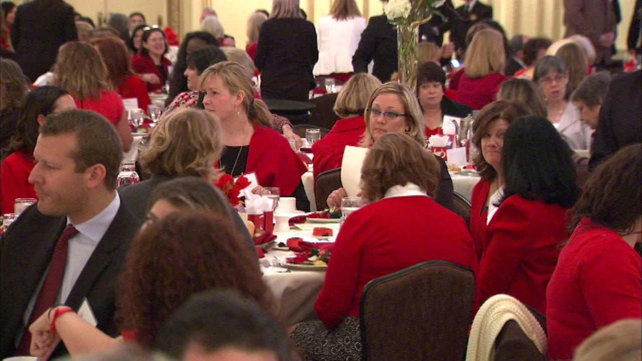 The Go Red for Women luncheon took place Friday at the Palmer House Hilton