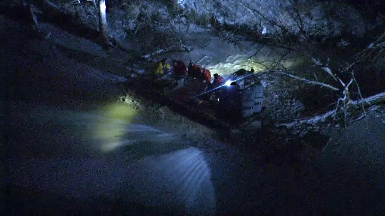Man rescued from icy water near Fox Lake