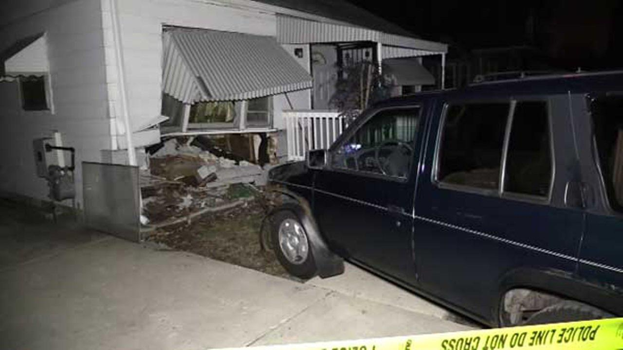 An SUV crashed into a home in south suburban Palos Hills late Monday night.