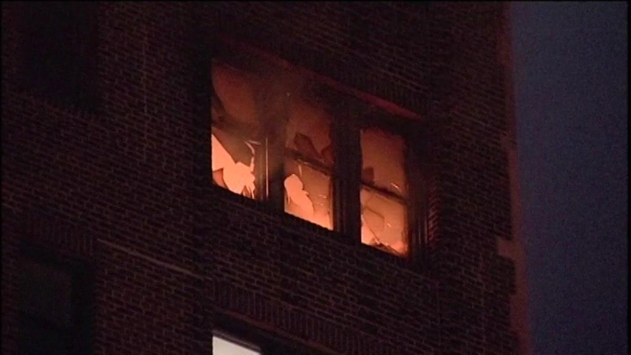 A 67-year-old man was rescued from a fire at a high-rise in Chicagos Hyde Park neighborhood