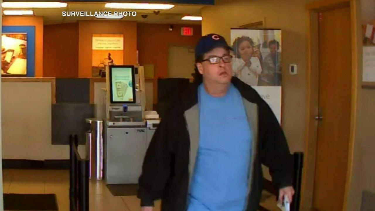 Schererville police release surveillance photos of bank robber