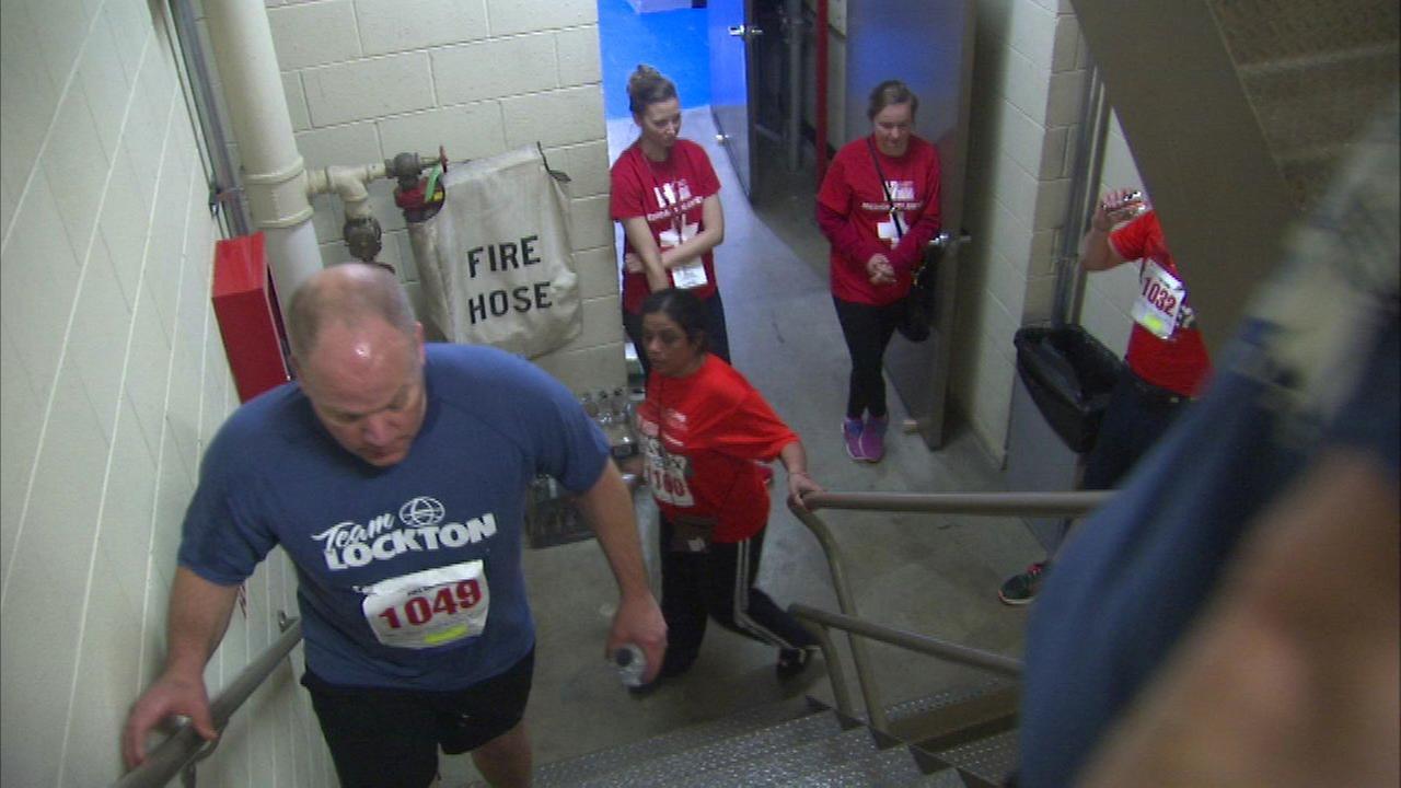 'Hustle up the Hancock' raises money to fight lung disease