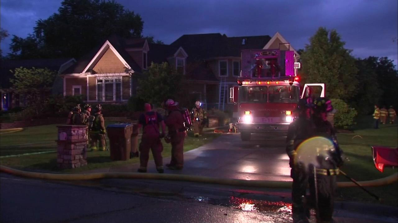 3 firefighters injured in Wheaton house fire started by lightning