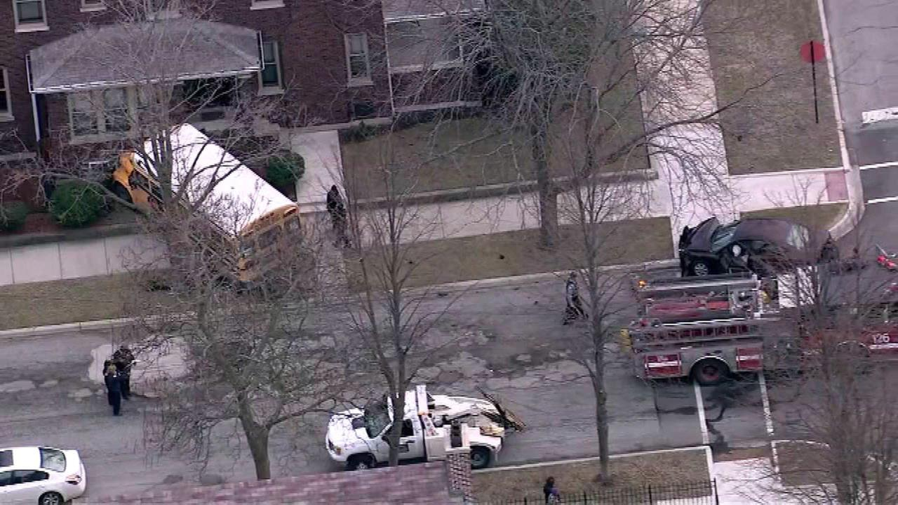 School bus crashes into house in South Shore