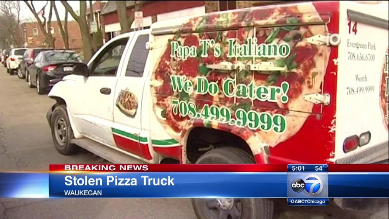 Pizza truck stolen from South Side, abandoned in Waukegan