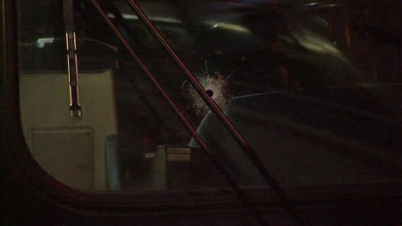 CTA driver injured by shattered glass after apparent gunshot