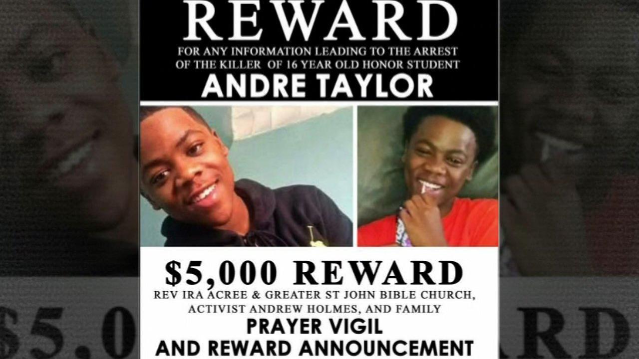 $5K reward offered for arrest in Andre Taylor murder