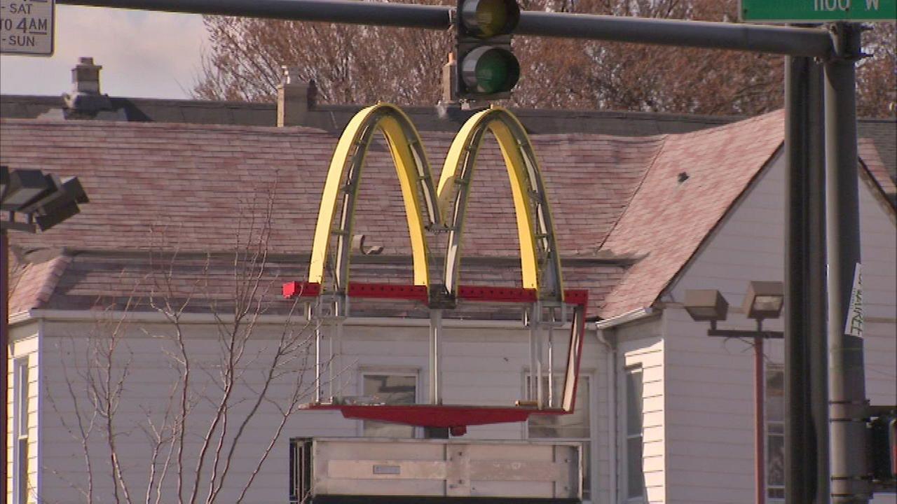 Demolition of McDonald's across from Wrigley Field has begun