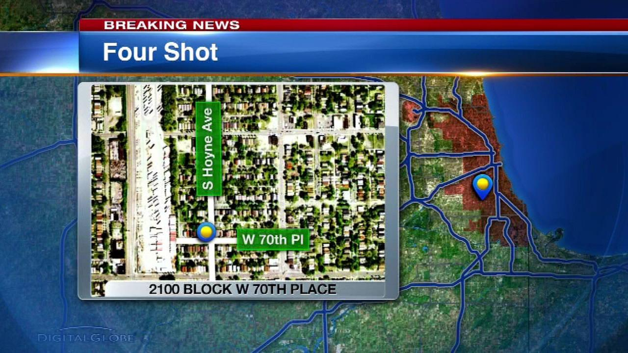 1 dead, 3 injured in shooting near 70th Place, Hoyne