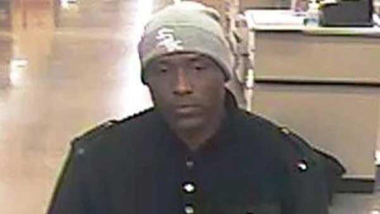 The man who robbed a Guaranty Bank branch Monday afternoon in the South Side West Englewood neighborhood is also suspected of robbing three other banks in the Chicago area over the last two weeks, the FBI said.