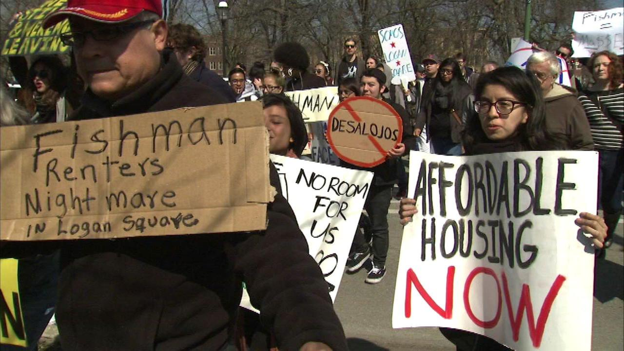 Logan Square residents protest rising rent