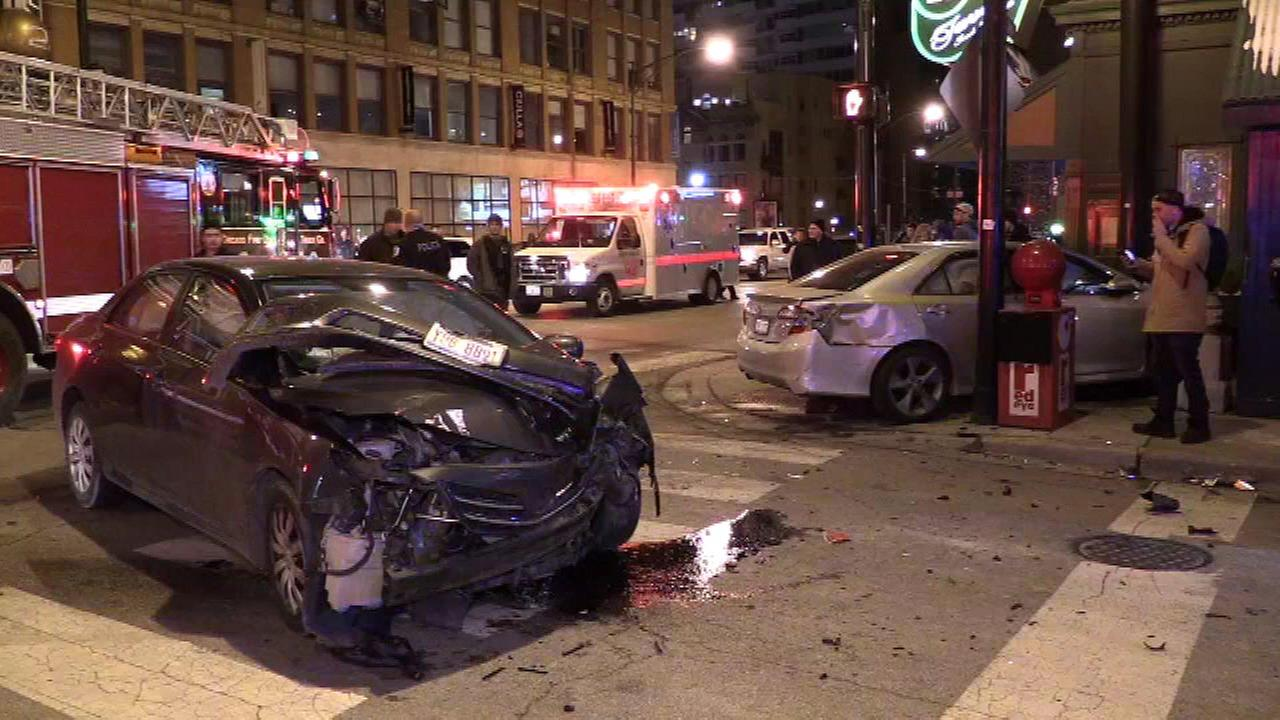 Car Crash River North Chicago