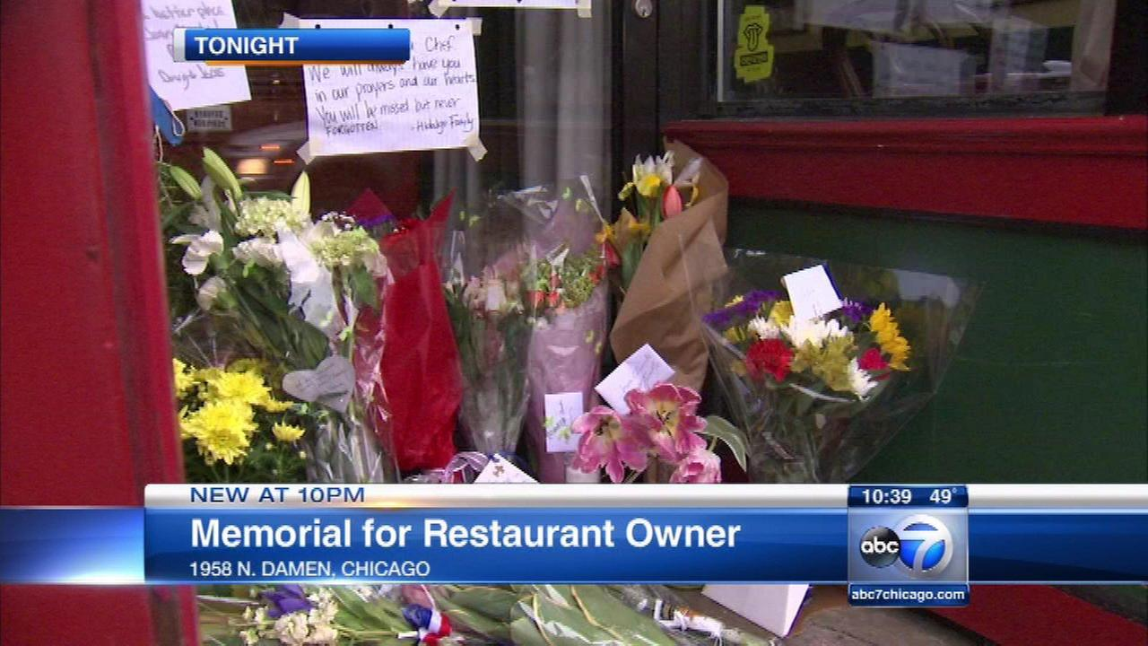 Mourners leave memorial at Bucktown restaurant after chef's death