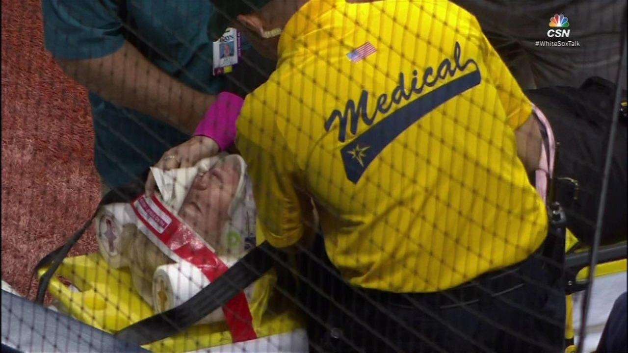 Fan hit by foul ball at Sox game in Tampa