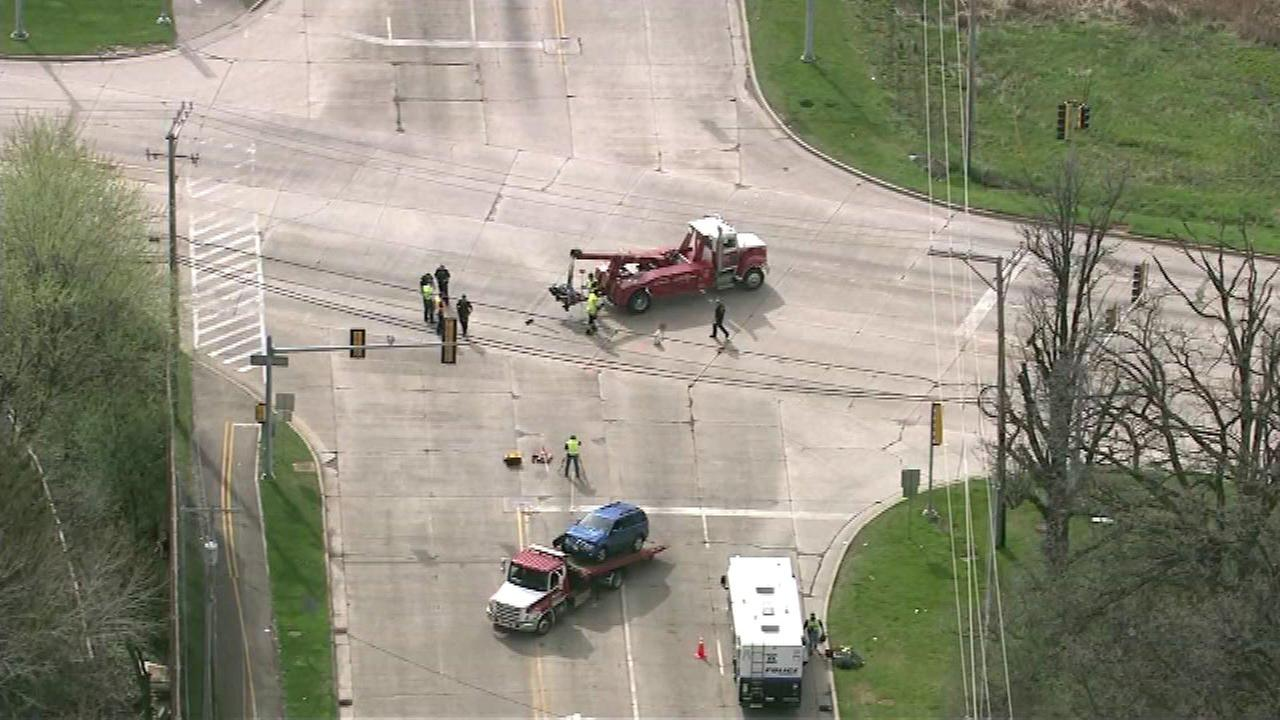 Route 59 reopens at Bartlett Road after crash