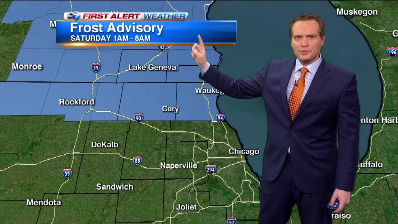 Chicago Weather: Frost Advisory issued for northern suburbs