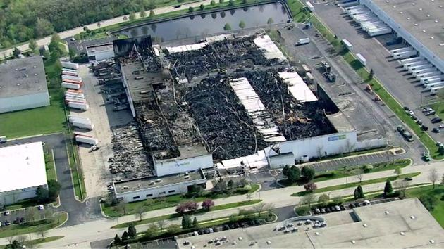 <div class='meta'><div class='origin-logo' data-origin='WLS'></div><span class='caption-text' data-credit=''>The RoomPlace warehouse in southwest suburban Woodridge is seen on April 29, 2016, after it was destroyed by a fire one week earlier.</span></div>