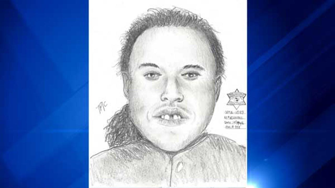 A police sketch of a man suspected of trying to abduct a 14-year-old girl in Roseland.
