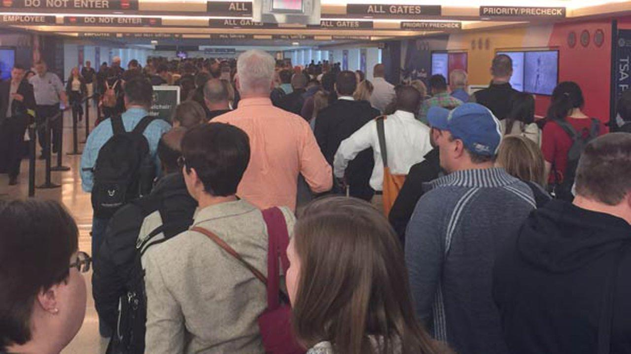 There were long lines of frustrated passengers Thursday night at Midway Airport.