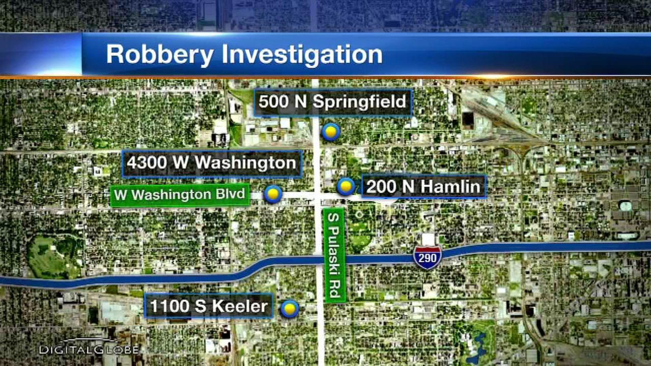 Chicago police have issued a warning about a series of armed robberies on the citys West Side.