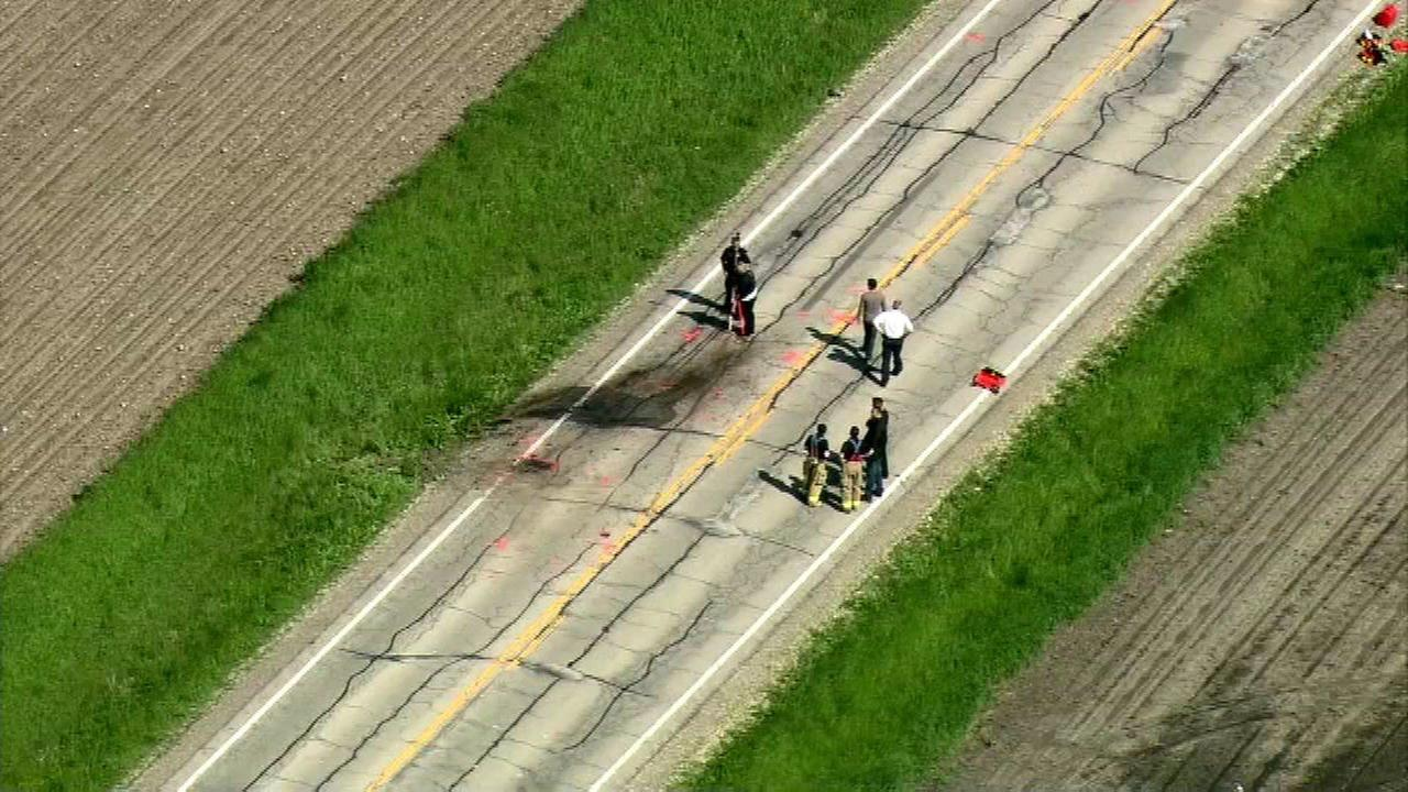 A Kane County Department of Transportation worker was struck and killed by a pickup truck Thursday morning while filling potholes in the western suburbs.