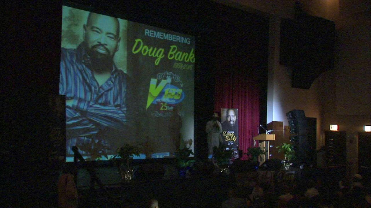 Memorial held for late radio personality Doug Banks