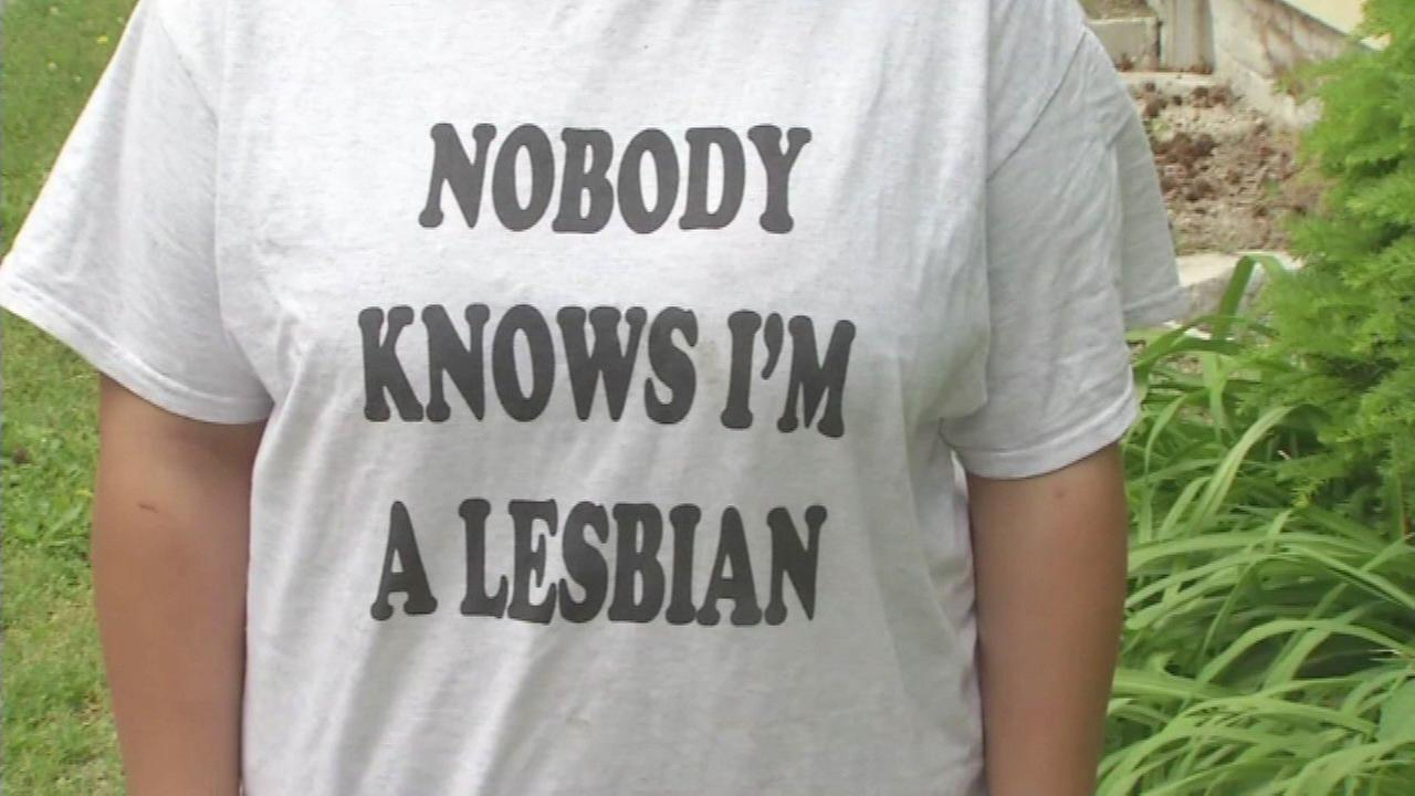 Grace Dulgar says she wore a lesbian pride shirt to school and was kicked out of class because of it.