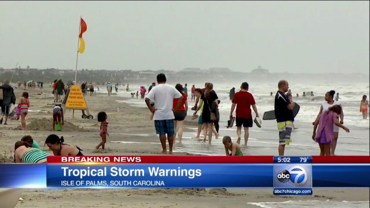 Torrential rain, floods hit Texas; Tropical Storm Bonnie moves toward S.C.