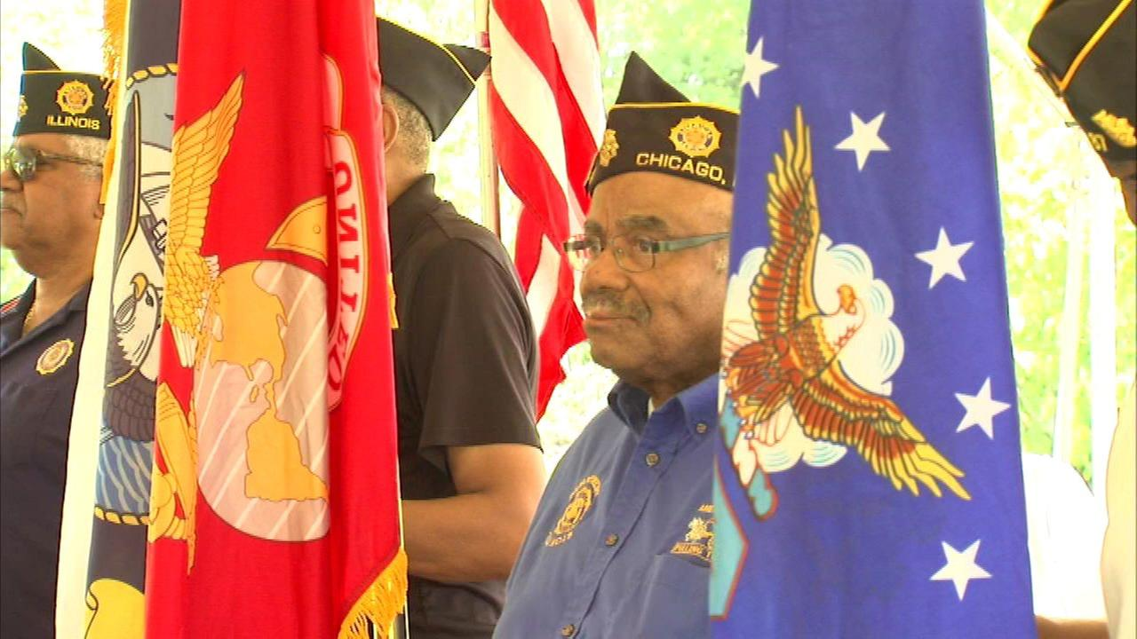 Tuskegee Airmen were honored at Oak Hill Cemetery in Chicago.