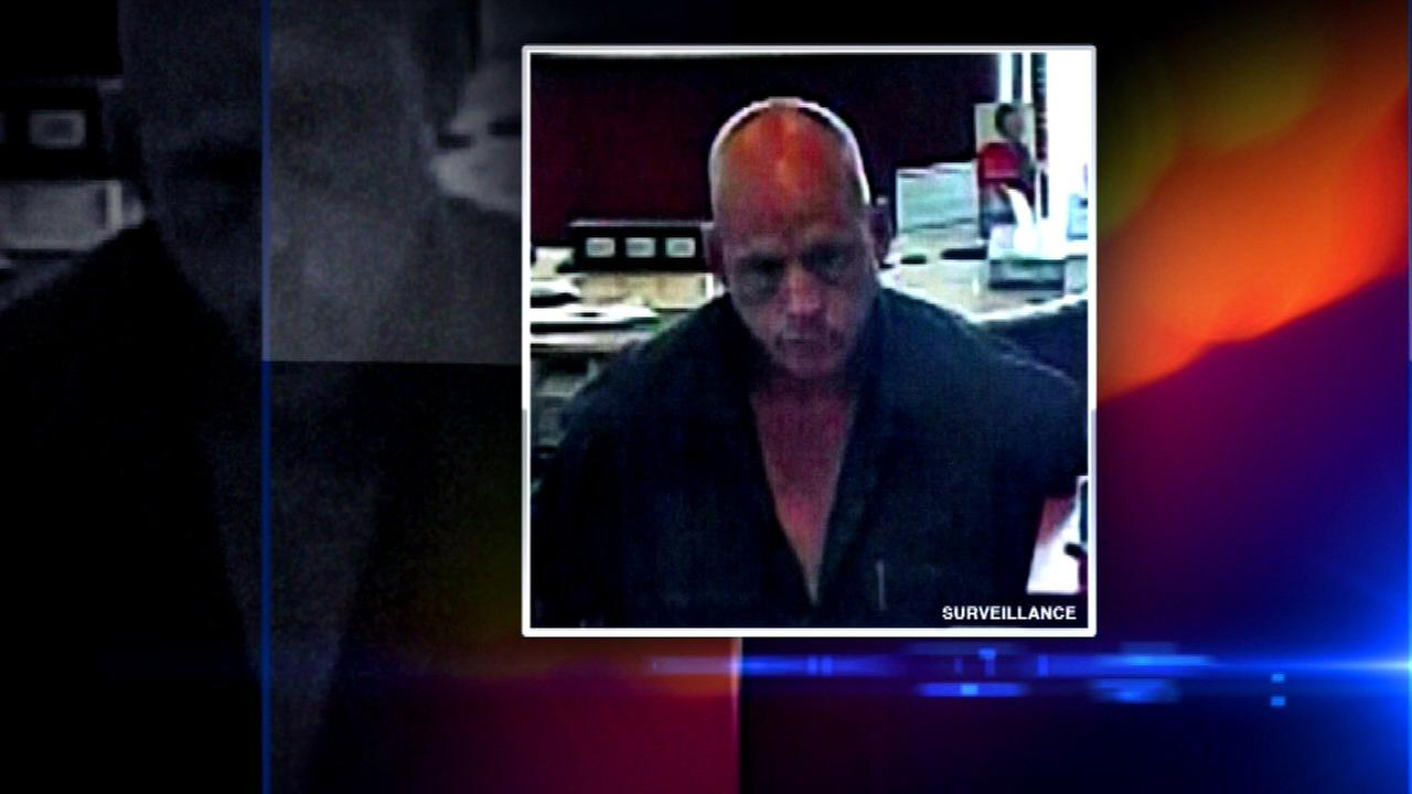 FBI surveillance photo from bank robbery at BMO Harris in Hammond, Ind., on May 28.