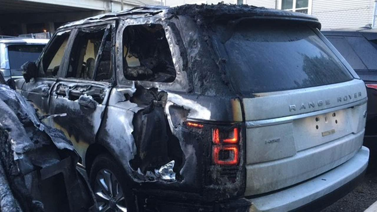 Damaged Range Rover