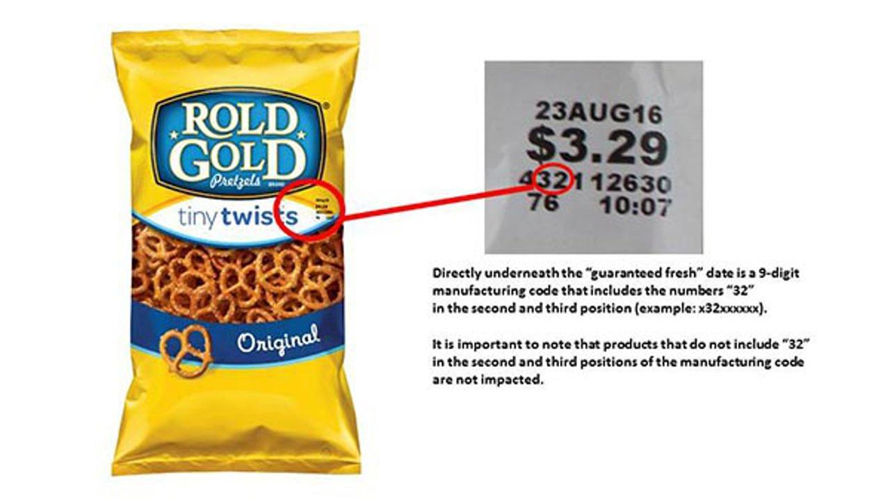 pretzel recall