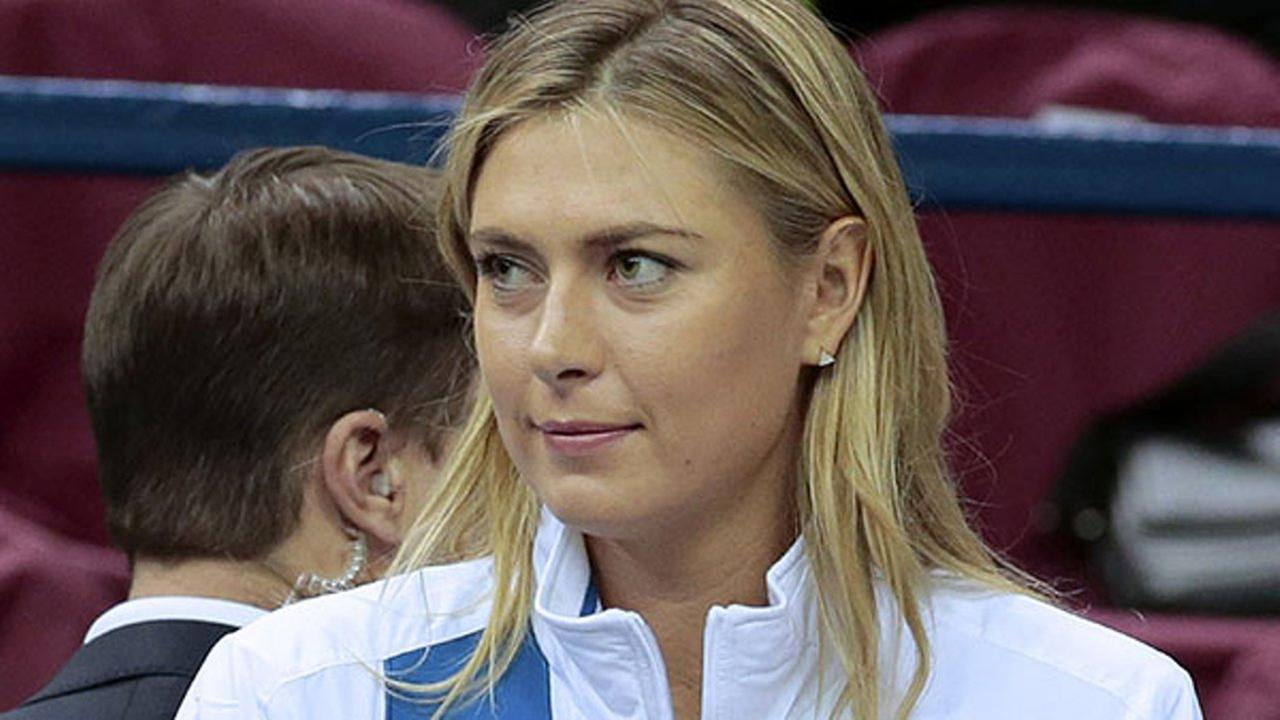 In this Saturday, Feb. 6, 2016, file photo, Russias Maria Sharapova reacts during the Fed Cup tennis match between Russia and Netherlands in Moscow, Russia.