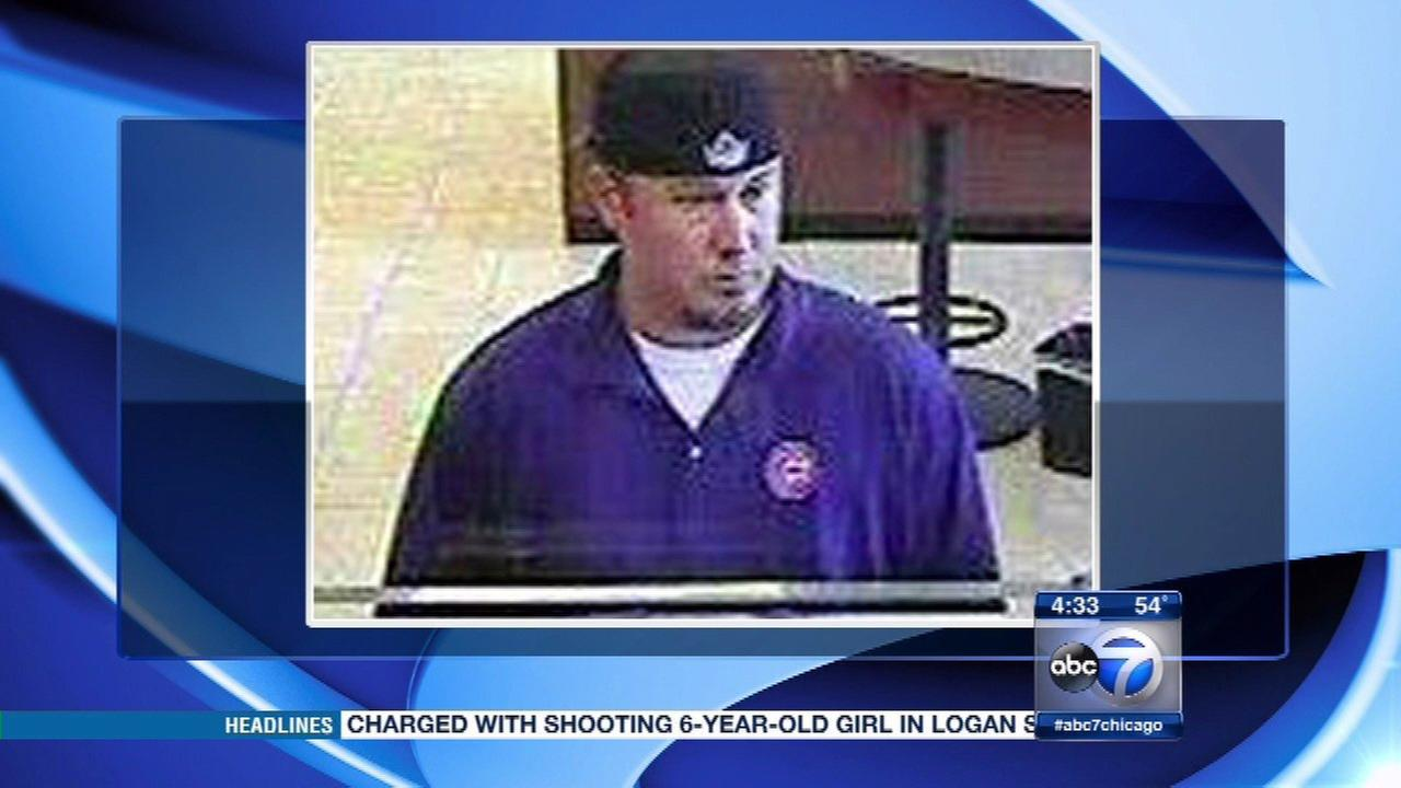 Bank robber dubbed 'North Center Bandit' strikes 5th branch
