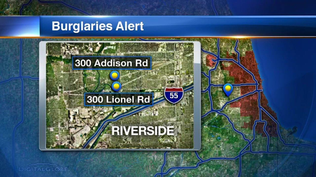 Riverside Police are warning residents about recent home burglaries.