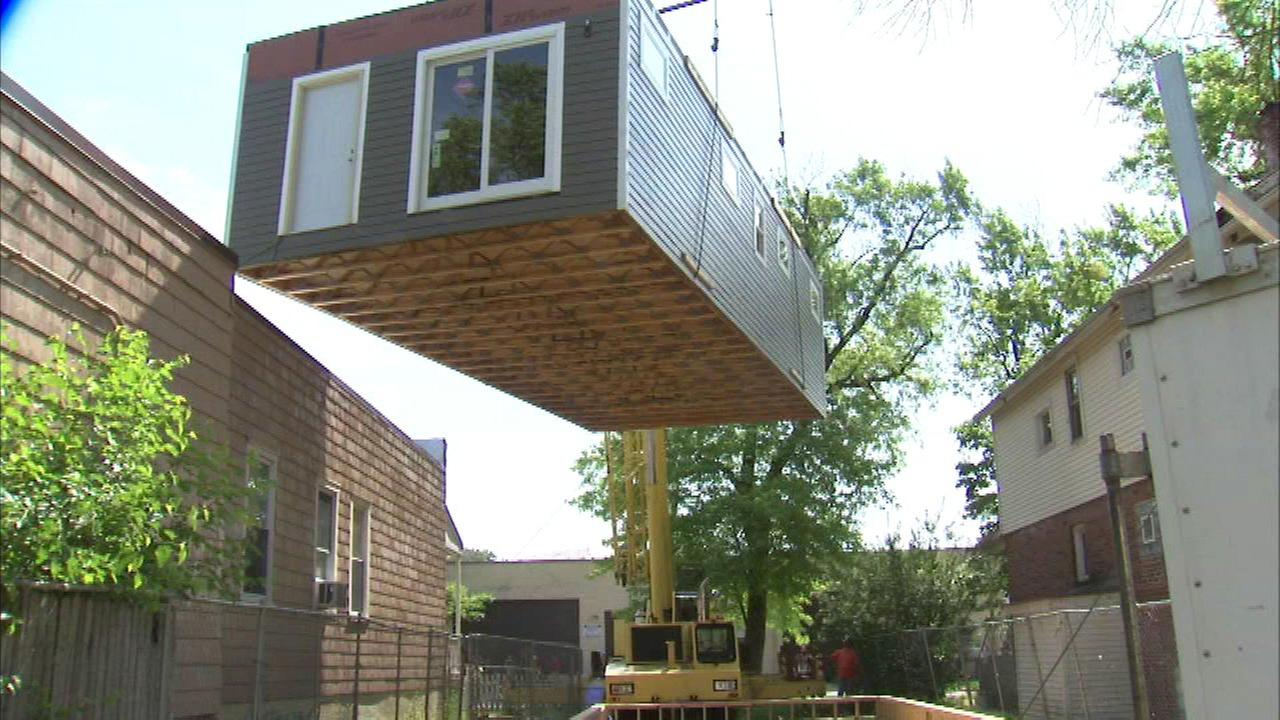 Home built by Evanston students ready to be sold