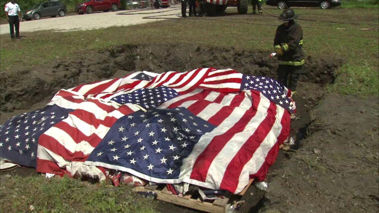 American flag celebrated in South Loop