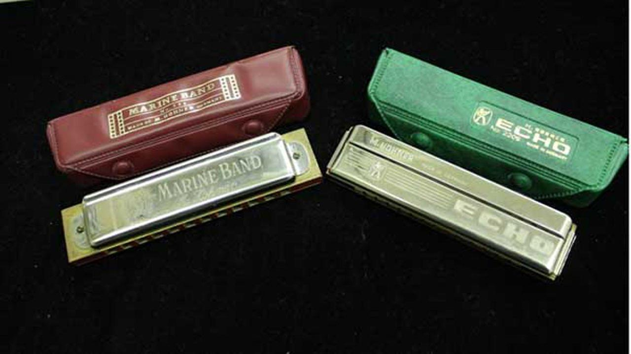 Included in the unclaimed property auction are vintage Hohner harmonicas.