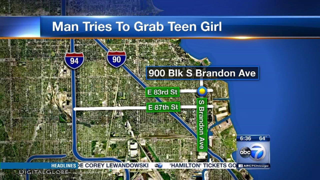 Man tries to abduct girl, 13, walking to school in South Chicago