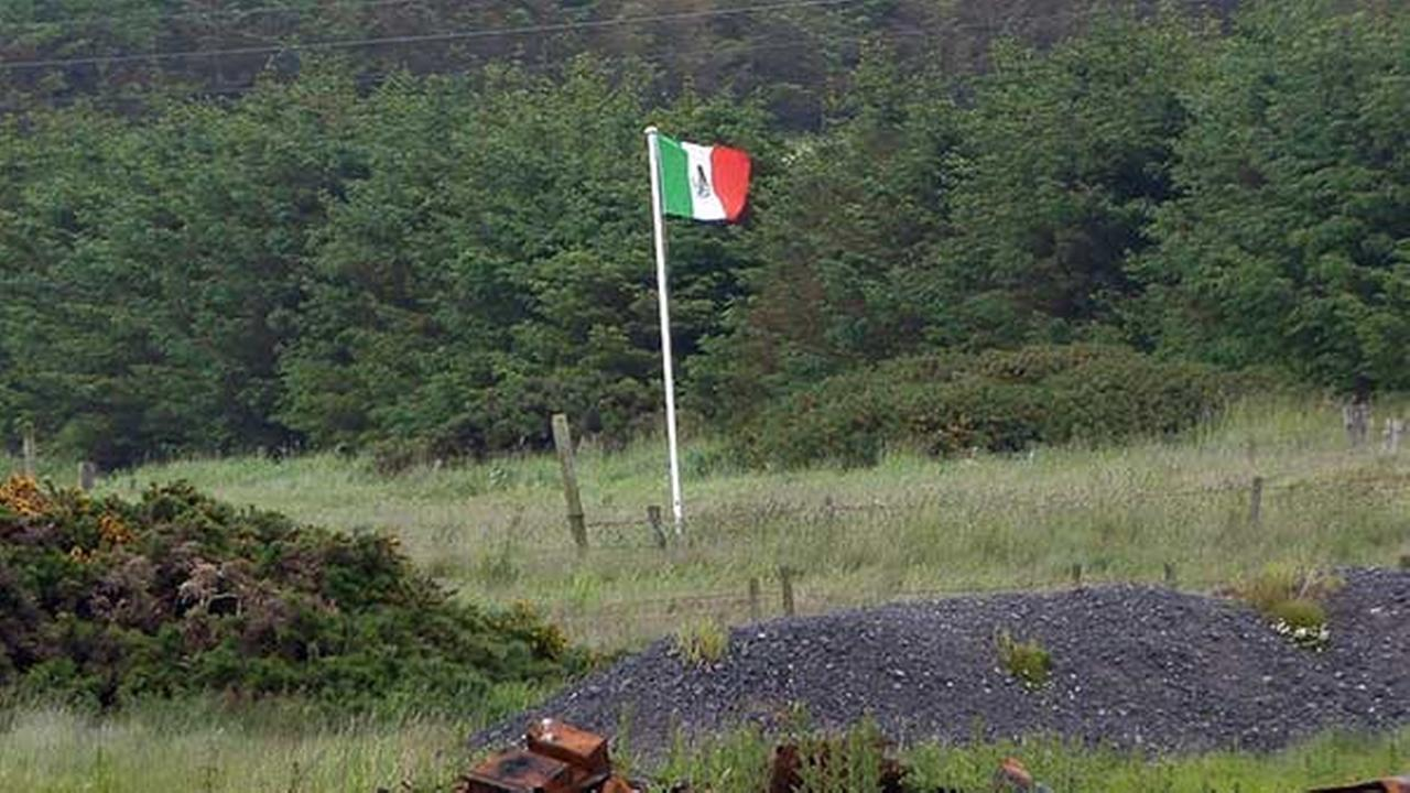 Mexican flags raised in protest of Donald Trump's visit to Scotland