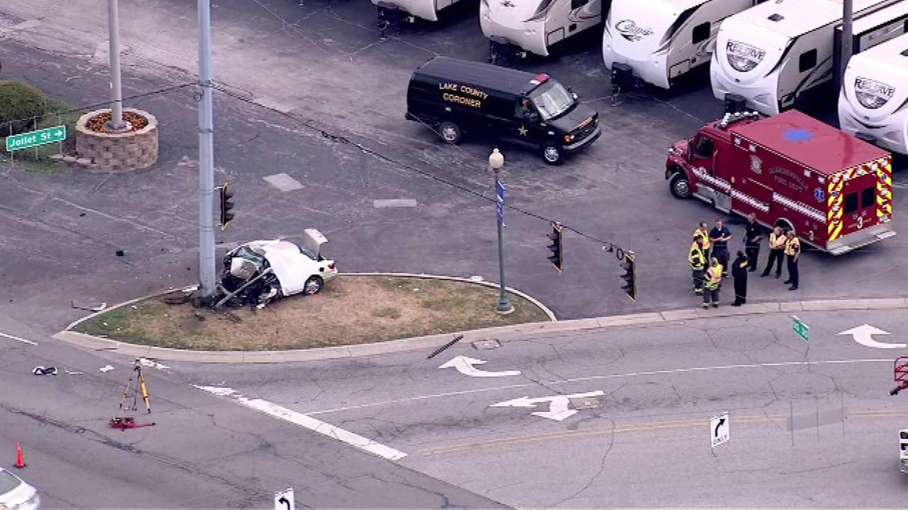 Man killed after car slams into utility pole in Schererville