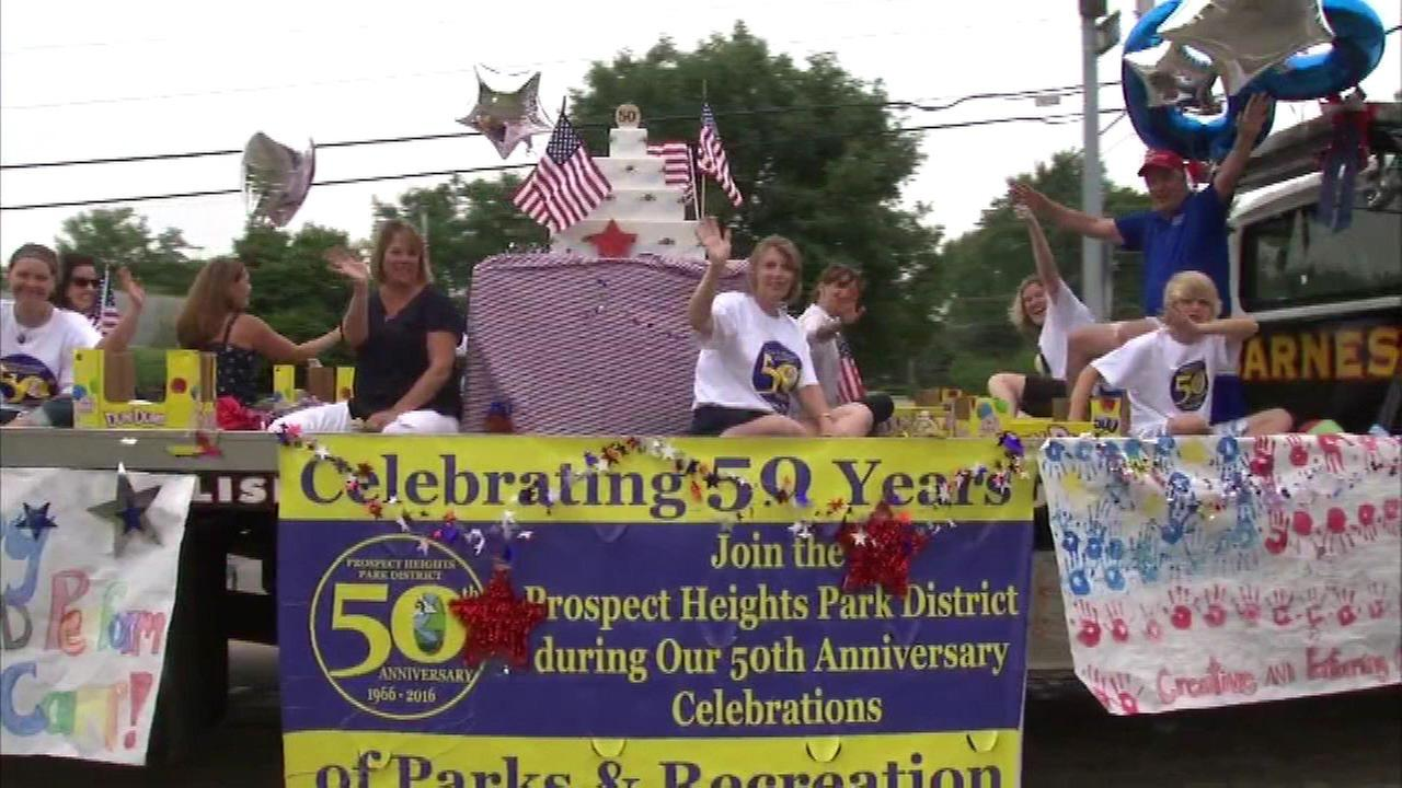 Residents in northwest suburban Prospect Heights enjoyed the floats and marching bands at their Independence Day parade.