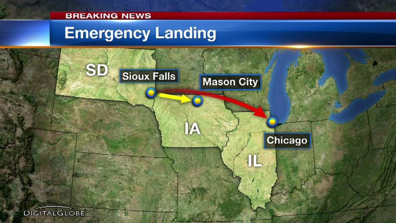 Plane bound for O'Hare makes emergency landing in Iowa