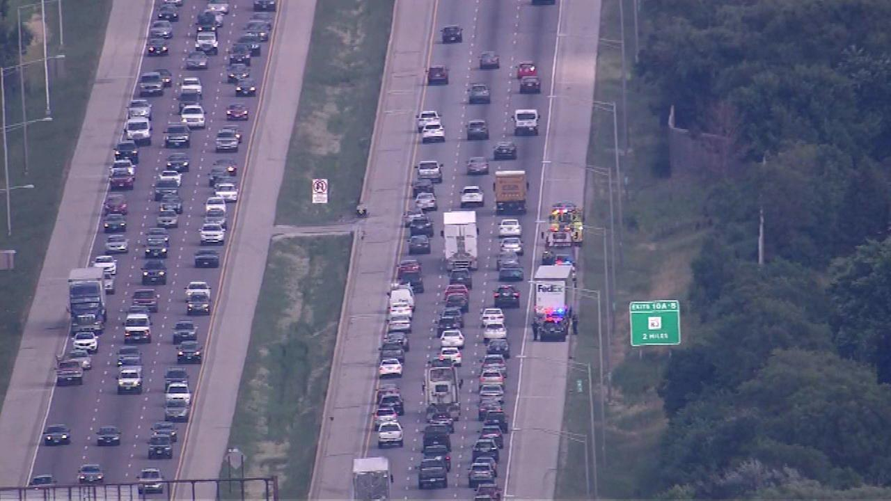 IB Eisenhower Expy reopens near Mill Road after crash