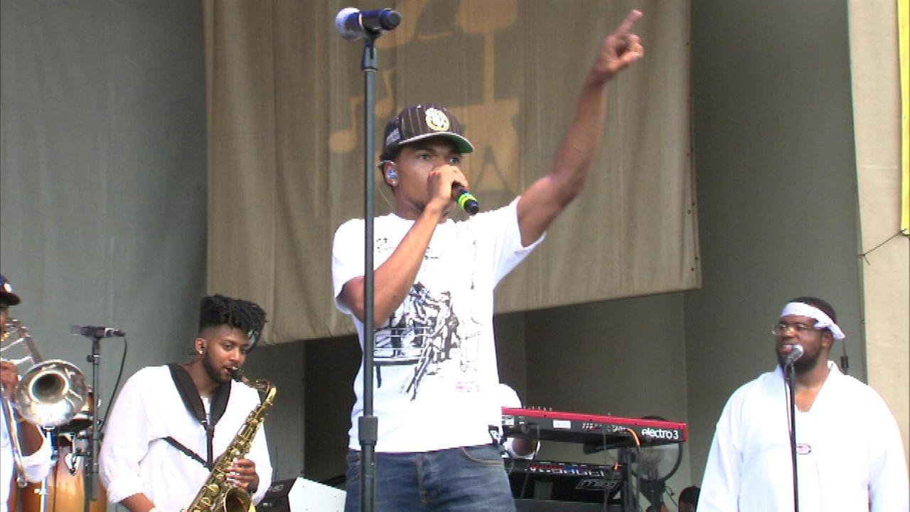 Chance the Rapper performs at Taste of Chicago