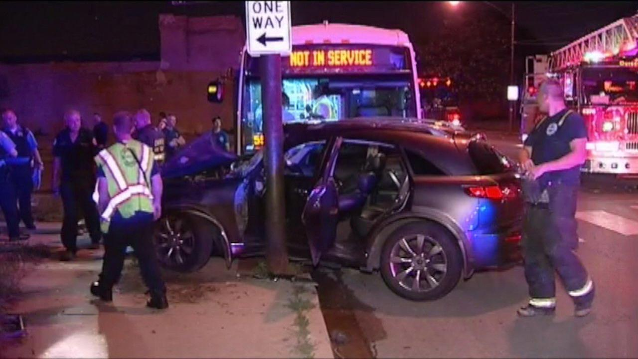 Five people are recovering after a CTA bus collided with an SUV late Wednesday night near 13th and Pulaski on Chicagos West Side.